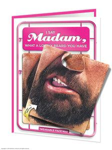 Madam facematt funny birthday card with wearable face mat - WoW Balloons Direct