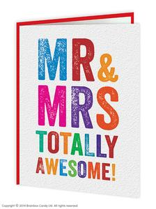 Mr and Mrs awesome engagement card - WoW Balloons Direct