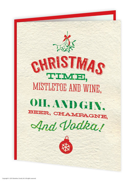 Christmas Time  Vodka Christmas card - WoW Balloons Direct