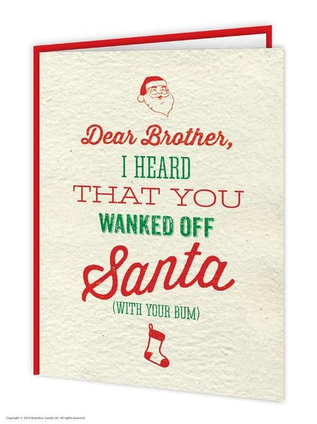 Brother Santa W*nk Christmas Card - WoW Balloons Direct