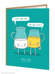 Funny nice jugs birthday card - WoW Balloons Direct