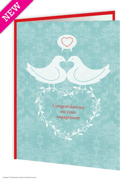 Love Birds engagement  Card - WoW Balloons Direct