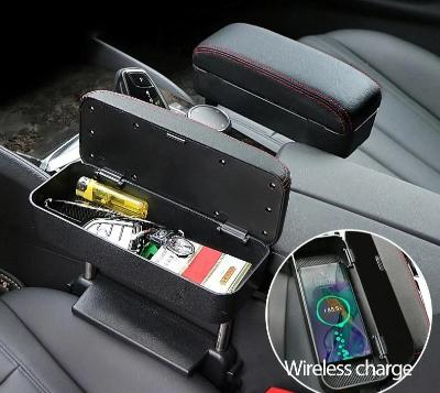 Universal Car Armrest Box Seat  with Wireless Charger