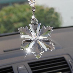 Car Pendant Transparent Crystal Snowflakes