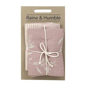 Raine & Humble Olive Grove Tea Towel Pack - Pink