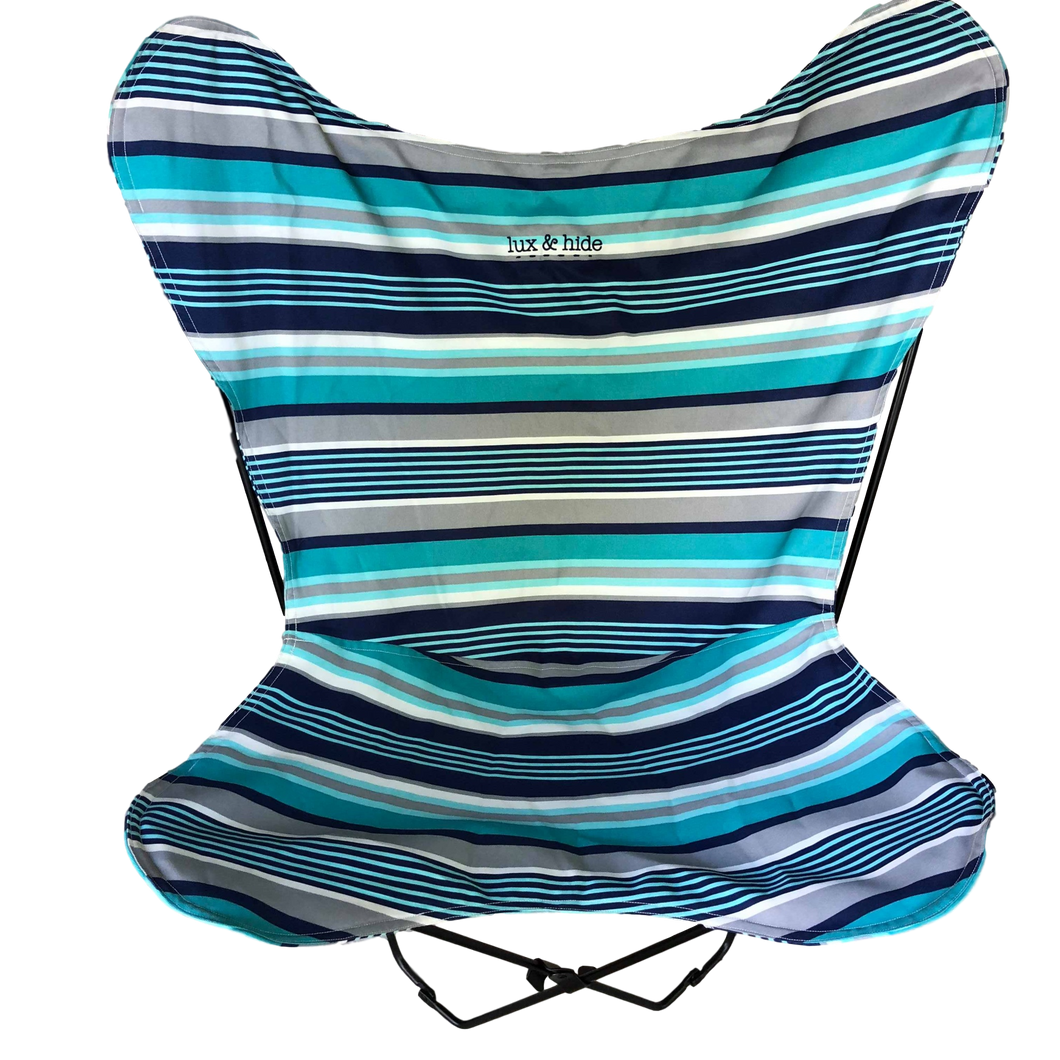 WATERPROOF CANVAS BUTTERFLY CHAIR - BLUE - Lux & Hide