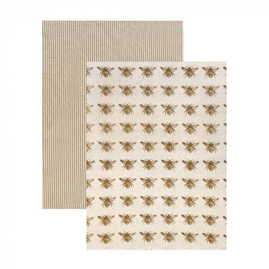 Raine & Humble Honey Bee Tea Towel Pack - Mustard