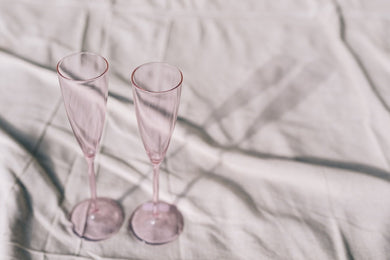 SET OF 2 FLUTES - PINK