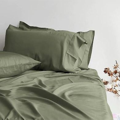Canningvale Alessia Bamboo Cotton Sheet Set - KB - 4 Colours