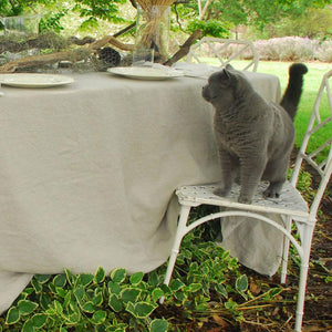 'Bircher' Linen Tablecloth