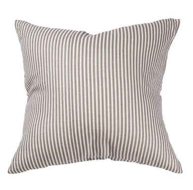 Grey Linen Striped Cushion
