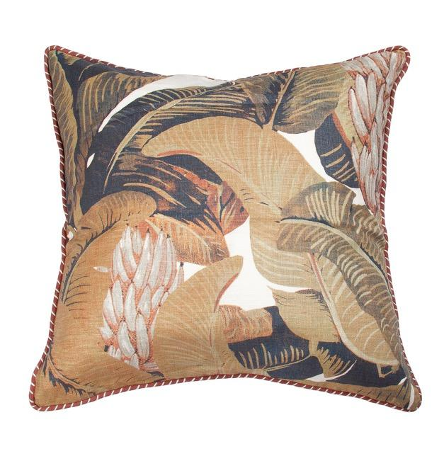 Banana Leaf Print Cushion