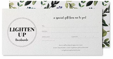 LightenUp Handmade Gift Voucher