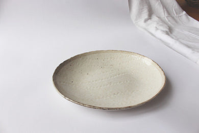 Speckle Oval Plate