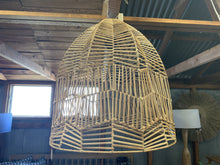 Load image into Gallery viewer, Hamptons Lace Wicker Pendant light
