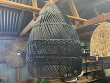 Load image into Gallery viewer, Harvey black wicker light pendant