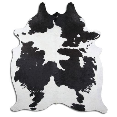 | LEWIS | - BLACK + WHITE COWHIDE RUG