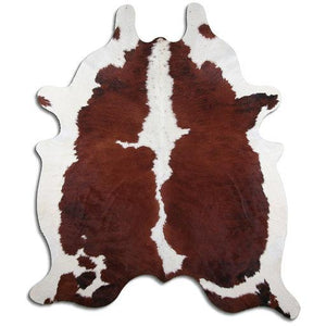| BEA | - EXOTIC WHITE BELLY BACKBONE COWHIDE RUG
