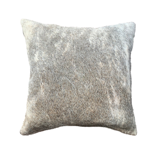COWHIDE CUSHION | LIGHT GREY BRINDLE - Lux & Hide