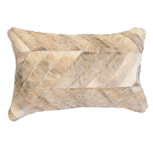 Load image into Gallery viewer, COWHIDE PATCHWORK CUSHION | BEIGE - Lux & Hide