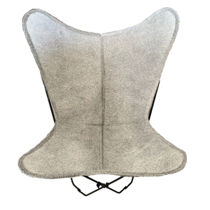 LIGHT GREY COWHIDE BUTTERFLY CHAIR - Lux & Hide