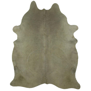 | GARRY | - DYED OLIVE GREEN COWHIDE RUG - Lux & Hide