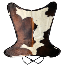 Load image into Gallery viewer, TRICOLOUR COWHIDE BUTTERFLY CHAIR - Lux & Hide