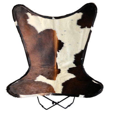 TRICOLOUR COWHIDE BUTTERFLY CHAIR