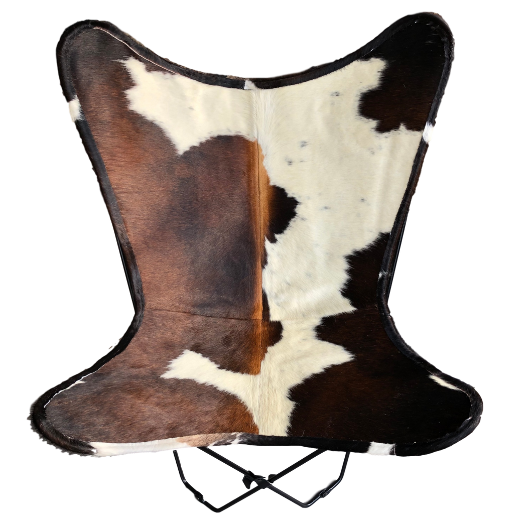 TRICOLOUR COWHIDE BUTTERFLY CHAIR - Lux & Hide