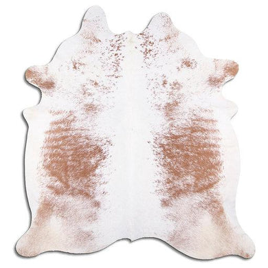 | FLORENCE | - BROWN + WHITE SPECKLE COWHIDE RUG - Lux & Hide
