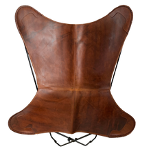 Load image into Gallery viewer, VINTAGE REDISH BROWN LEATHER BUTTERFLY CHAIR - Lux & Hide
