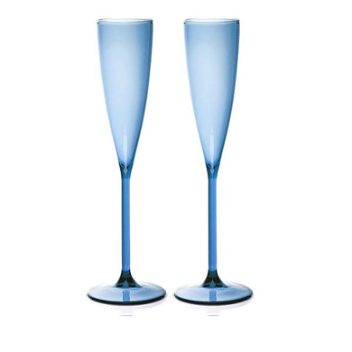SET OF 2 FLUTES - AZURE
