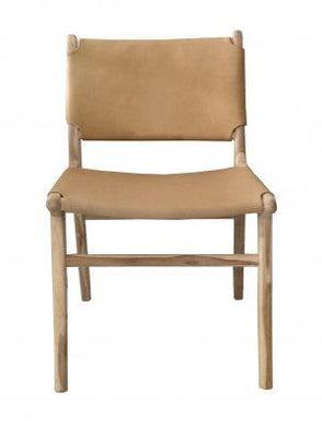 Marvin Dining Chair (Various Colours) - Teak and Leather
