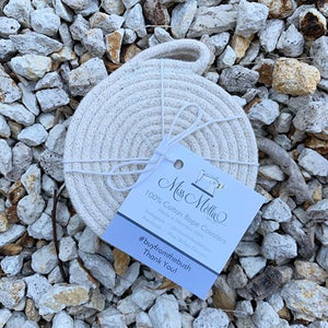 Set of 6 Cotton Rope Coasters