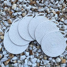 Load image into Gallery viewer, Set of 6 Cotton Rope Coasters