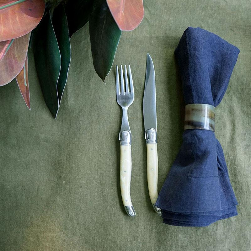 'Olive Tapenade' Linen Tablecloth