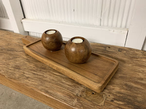 Rectangular Long Wood Tray
