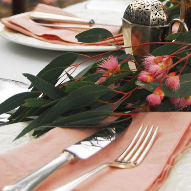Pair of 'Rosé' Linen Napkins