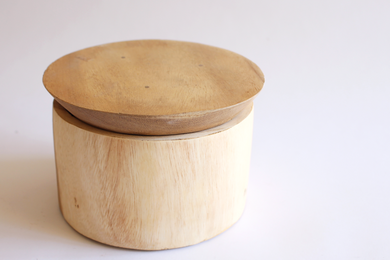 Round Wood Canister