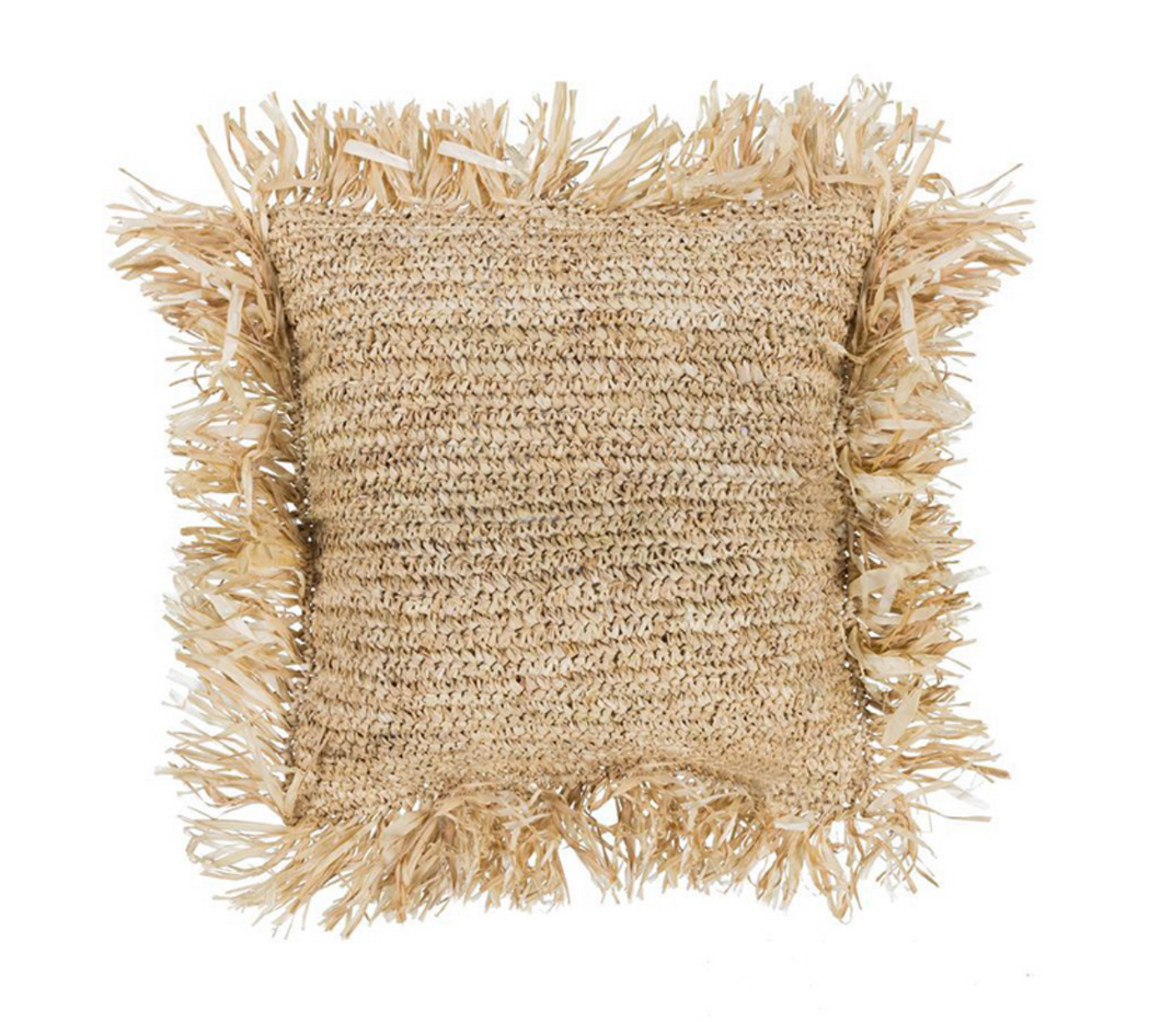 Cha Cha Raffia Cushion Cover