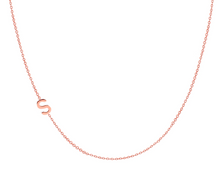 Load image into Gallery viewer, 14K Gold Asymmetrical Initial Necklace