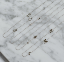 Load image into Gallery viewer, 14k Gold Asymmetrical Multiple Initial Necklace