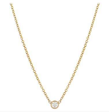 Bezel Diamond Necklace - Small