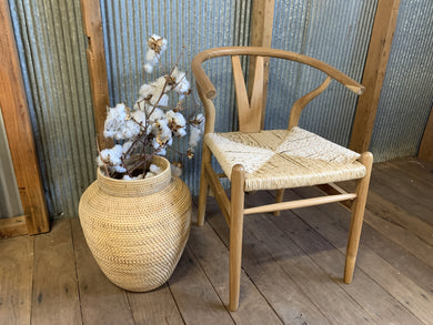Teak Wood Wishbone Dining Chair