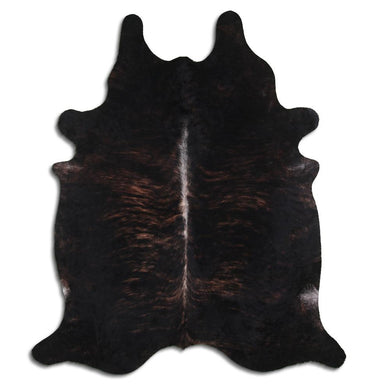 | NICK | - DARK BRINDLE COWHIDE RUG - Lux & Hide