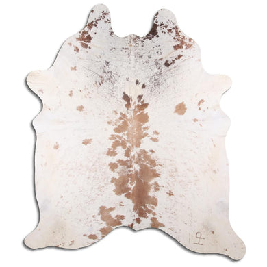 | MIA | - BROWN + WHITE SPECKLE COWHIDE RUG - Lux & Hide