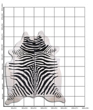 Load image into Gallery viewer, | CHET | - ZEBRA PRINT COWHIDE RUG