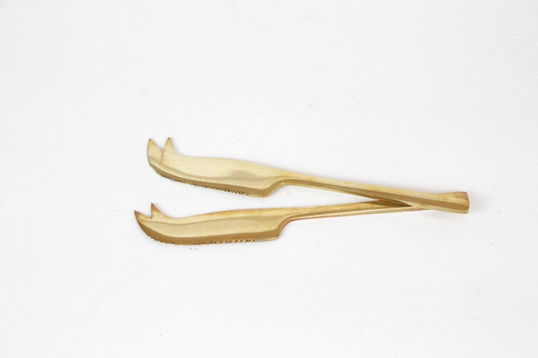 Brass Cheese Knife (Set of 2)