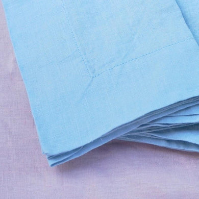 Pair of 'Sparkling Water' Linen Napkins