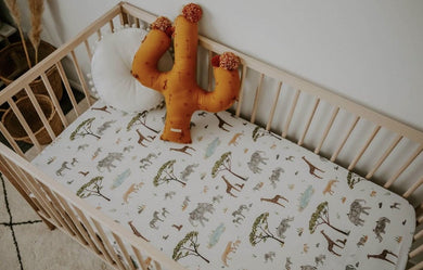 Snuggle Hunny Safari Jersey Cot Sheets